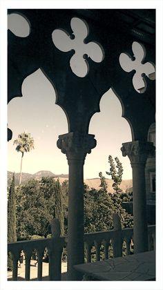 Hearst Castle window view.. california