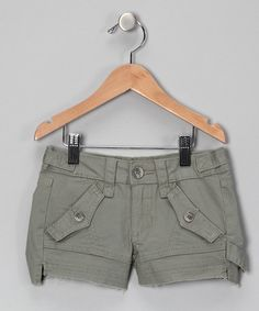 Take a look at this Olive Cargo Cutoff Shorts - Girls by Joe's Jeans on #zulily today!