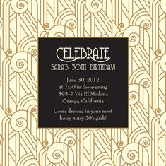 gatsby party invitation - Google Search