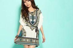 vestidos indianos curtos e estampados