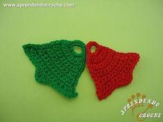 Sino de Crochê p/ Aplicação e Enfeite - Receita de Croche Passo a Passo