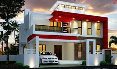Duplex India house in 3800 square feet square meter) square yard). Image Via: Square feet details Ground floor : 1900 2 Storey House Design, Duplex House Design, Duplex House Plans, House Front Design, Modern House Design, Modern Small Apartment Design, Compound House, Double Story House, Bungalow Haus Design