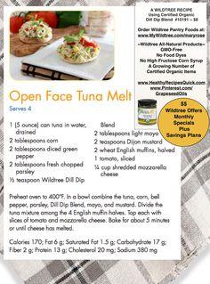 Open Face Tuna Melt ~ A yummy after school snack or main dish. www.HealthyRecipesQuick.com