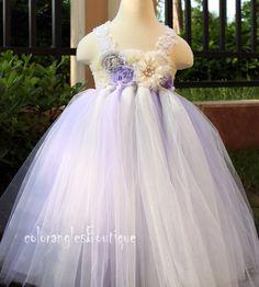 Flower girl dress Gray Wisteria Ivory tutu dress baby dress toddler birthday dress wedding dress 1T 2T 3T 4T 5T 6T by coloranglesBoutique on Etsy https://www.etsy.com/listing/154961581/flower-girl-dress-gray-wisteria-ivory