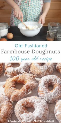 These old fashioned doughnuts are classic and delicious! This is a great dessert recipe or even for a sweet breakfast treat. These handmade donuts have have been made over 100 years and are still the best. Old Donuts Recipe, Old Fashioned Doughnuts Recipe, Easy Donut Recipe, Homemade Donuts, Donut Recipes, Baking Recipes, Classic Doughnut Recipe, Fried Doughnut Recipe, Old Fashioned Recipes