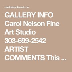 GALLERY INFO  Carol Nelson Fine Art Studio 303-699-2542  ARTIST COMMENTS  This painting can be displayed in a vertical or horizontal configuration. It is heavily textured with faux copper glazed aluminum foil and iron texture acrylic medium. The sides are painted black. The painting does not require framing, although a black floater frame would be a beautiful finished look.   side view