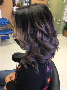 Smokey lilac hair (chocolate curls friends)