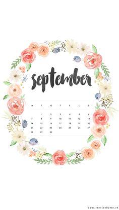 iPhone wallpaper september calendar