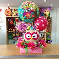 ¡Bienvenida Valleria! #Joliandgift Balloon Box, Balloon Gift, Balloon Bouquet, Balloon Arrangements, Balloon Centerpieces, Balloon Decorations, Birthday Bouquet, Birthday Diy, Valentine Baskets