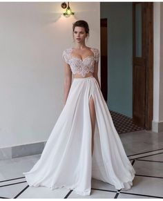 2 piece set formal gown