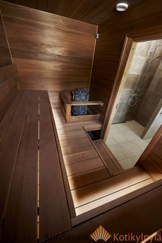 People have been enjoying the benefits of saunas for centuries. Spending just a short while relaxing in a sauna can help you destress, invigorate your skin Saunas, Diy Sauna, Home Spa Room, Spa Rooms, Sauna Steam Room, Sauna Room, Basement Sauna, Sauna Wellness, Sauna Kits