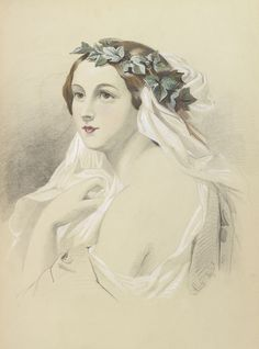 Drawing made by Princess Alice, Grand Duchess of Hesse, at the age of 14 - 24 May 1857