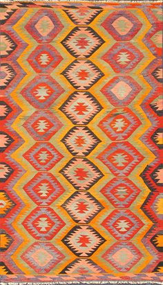 Gorgeous flat weave Turkish rug from KEIVAN WOVEN ARTS,