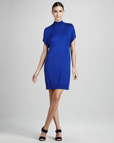 Knit Cold-Shoulder Dress by Magaschoni at Neiman Marcus.