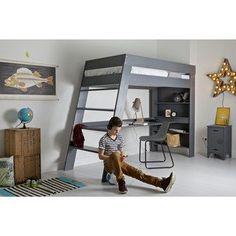 loft beds for kids with desk - home office furniture collections Girls Bedroom Furniture, Kids Bedroom, Teen Bedrooms, Loft Bed Desk, Loft Beds, Bunk Bed, Casa Kids, Home Office Desks, Bedroom Decor