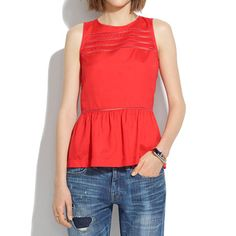 Silk Peplum Veranda Top - tanks & camis - Women's SHIRTS & TOPS - Madewell