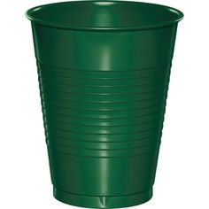 Touch of Color Dark Hunter Green 16 oz Solid Color Disposable Plastic Cups…