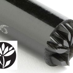 KS-046-Flower w/ Leaves 10 mm acrylic stamp by Kor Tools.