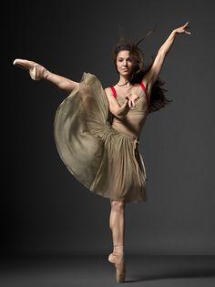 New York City Ballet dancer Ana Sophia Scheller for NYC Ballet's 2010 campaign shot by the photographer Henry Leutwyler.