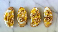 Honey walnut bruschetta