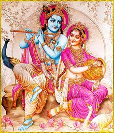 "✨ RADHA KRISHNA ✨ Artist: Yogendra Rastogi ""Krishna is the Supreme Personality of Godhead Himself, and He is the crown jewel of all heroes. In Krishna, all transcendental good qualities are permanently situated.""~Chaitanya Caritamrta Madhya 23.67"