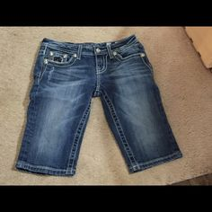 Bermuda shorts size 14 MissMe Blue jeans great condition! Miss Me Jeans