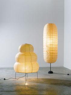 Isamu Noguchi - Lampes Akari.