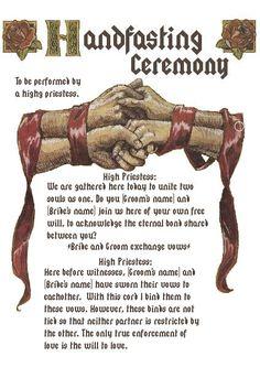 Hadnfasting Ceremony