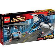 Faça parte de uma épica batalha entre os vigandores contra o poderoso Ultron com Lego Super Heroes Marvel - A Perseguição dos Vingadores na Cidade com Quinjet.   Com este incrível Lego as crianças poderão soltar a imaginação e usar toda a criatividade para recriar as aventuras do filme.   Além do conjunto de peças, inclui diversas minifiguras como Capitão América, Visão, Viúva Negra, Homem de Ferro e Ultron, que vão tornar a diversão ainda melhor. Este Lego é um brinquedo impecável que vai…