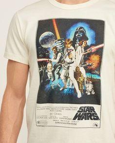 Vintage-Style mit Limited-Edition-Star-Wars-Grafik vorne, Rundhalsausschnitt, Muscle Fit, importiert<br><br>60 % Baumwolle, 40 % Polyester