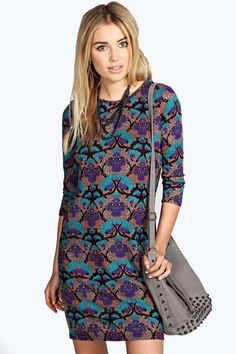 Kate Abstract Brushed Knit Shift Dress  $26.00 $16.00