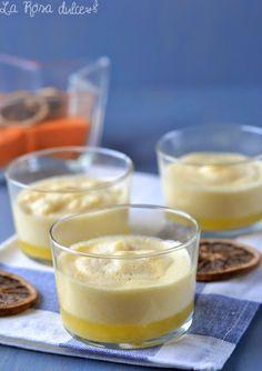 Mousse de naranja sin azúcar y sin lactosa