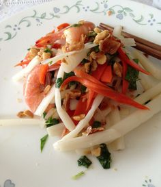 Vietnamese Shrimp + lotus roots salad