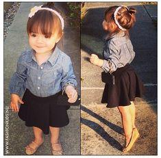 Fashion kids - skirt and button up shirt