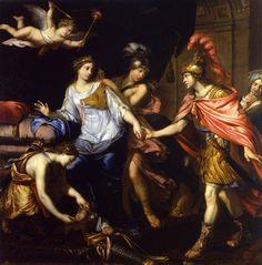 Alexandre et la reine des Amazones - Attribué à Pierre Mignard ✏✏✏✏✏✏✏✏✏✏✏✏✏✏✏✏ IDEE CADEAU / CUTE GIFT IDEA  ☞ http://gabyfeeriefr.tumblr.com/archive ✏✏✏✏✏✏✏✏✏✏✏✏✏✏✏✏
