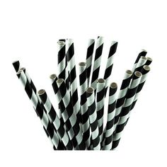 The Party Cupboard : Candy Striped Black Party Straws : Paper Party Straws : Party Supplies Candy Stripes, Black Party, Paper Straws, Bobby Pins, Party Supplies, Hair Accessories, Cupboard, Birthday, Clothes Stand