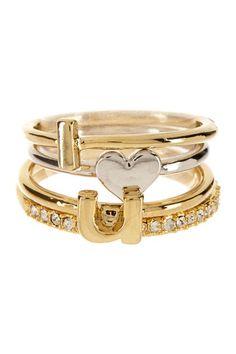 Beyond Rings I Heart U Stack Ring Set by Beyond Rings on @HauteLook