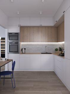 Kitchen Dinning Room, Kitchen Room Design, Home Decor Kitchen, Home Kitchens, Kitchen Layout Interior, Small Kitchen Layouts, Kitchen Cabinet Inspiration, Small Modern Kitchens, Tagaytay