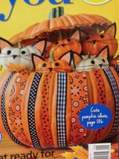 Kitty cat pumpkins