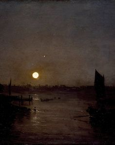 foxmouth:  Moonlight, a Study at Millbank (Detail)by Joseph Mallord William…