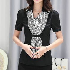 Autumn new arrival fashion Business shirt slim formal scarf collar women's long-sleeve blouse ladies office plus size tops