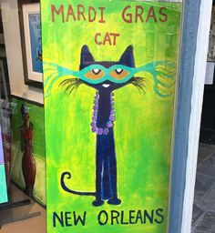 Cats rule... #decor #design #mask #party #photooftheweek  #nola #neworleans #bigeasy #photooftheday #picoftheday #picoftheweek #bestoftheday #mardigras #colorful #royal #royalstreet #frenchquarter #carnival #festive #purple #green #gold #sparkle #masks #cat #art #artist #instadaily #artgallery #thepartyneverstops by robertdiamond