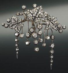 A diamond corsage brooch