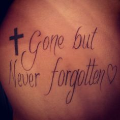 Rib cage tattoo in memory of the best God father a girl could ask for ! ♡