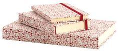 Agenda giornaliera da tavolo, tascabile con elastico e settimanale tascabile con elastico. Carta Grafiche Tassotti Decoro rosso cod. 509