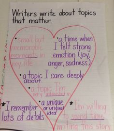 Writers write about topics that matter.