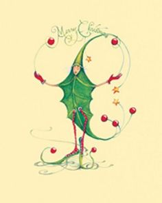 Christmas Holly Man Boxed Cards