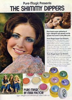 Pure Magic Shimmy Dippers by Max Factor (October 1971)