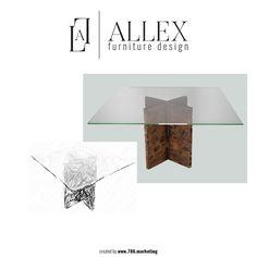 GUSTO DESIGN COLLECTION: GINA: Mesa de comedor con soporte cruzado de madera sólida de cedro y acabado de vidrio de media pulgada. Medidas 60 pulgadas de diámetro x 60 pulgadas de ancho x 29 pulgadas de alto. Disponible en modelos hechos a la medida. Para más información, comunícate al 954-599-1530 #Designs #Furniture #AllexDesign #House #Mydreamhouse #modern #interiordesigns #classic #vintage #event #home #homedecor #decoration #miami #brasilianfurniture #doral #doralzuela #like…