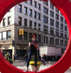 Quintessential NY ! Union Square! Model Kristen Quinn, Makeup Artist/ Director of Education and Artistry Elizabeth Bank; photographer Shana Schnur